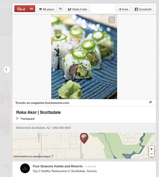 Pinterest Place Pin per Hotel