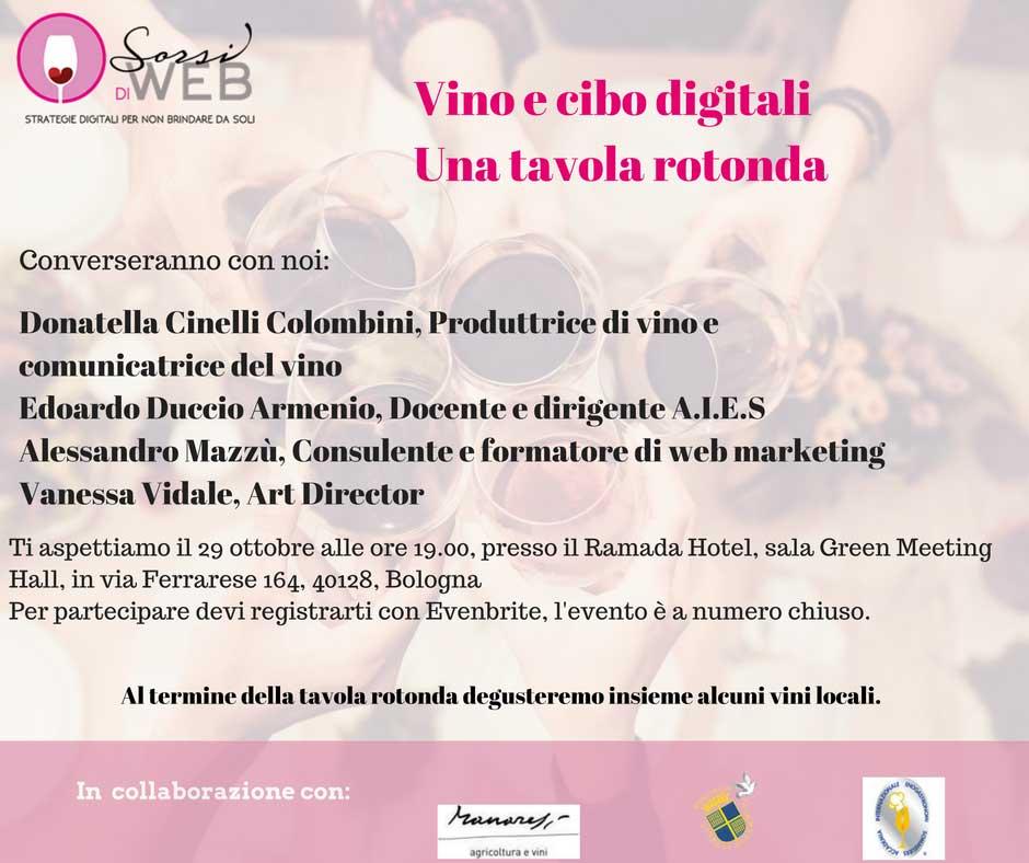 vino e cibo digitali tavola rotonda