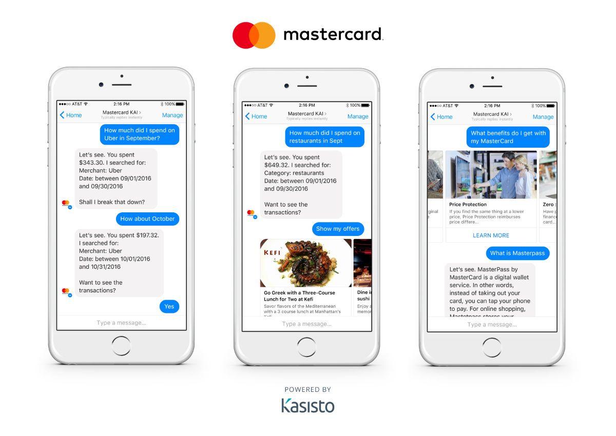 Chatbot - esempio Mastercard